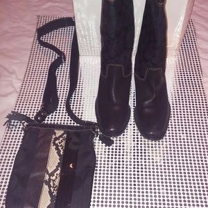Women's Riding Boots and Cross Over Bag